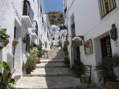 Steile straatjes in Frigiliana