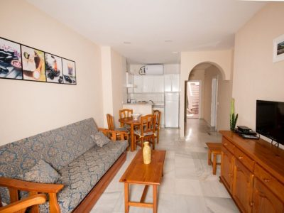 Las Rosas Nerja woonkamer Strandhuys Appartementen Nerja