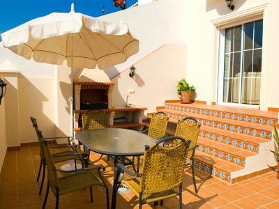 Villa vakantiehuis Jara Nerja Spanje terras
