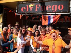 Nederlands Elftal bij Nederlands Café El Fuego in Nerja